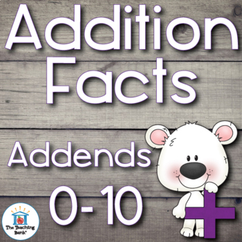 Addition Basic Facts 0-10's
