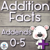 Addition Basic Facts 0-5's Addends