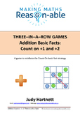 Addition Basic Facts - Count On to +1 or +2. 3-in-a-row game