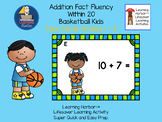 Addition Basketball Kids Fact Fluency Within 20  Task Card