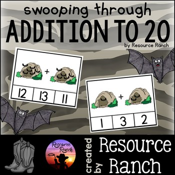 Addition Bats Clip Cards Swooping Through Addition to 20