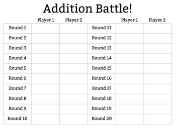 Addition Battle! Game