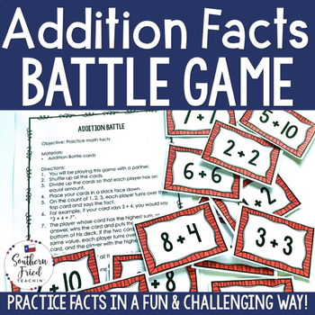 Addition Facts - Fun Game to Practice Math Facts