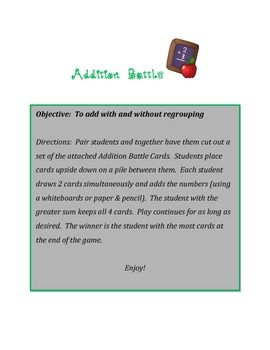 Addition Battle Game