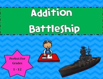 Addition Battleship Game Facts 1-12