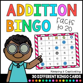 Addition Bingo 1-20