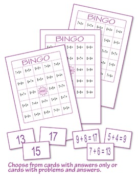 Addition Bingo 3