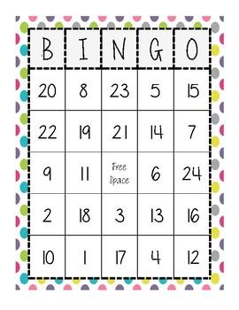 Addition Bingo 30 Different BINGO Cards