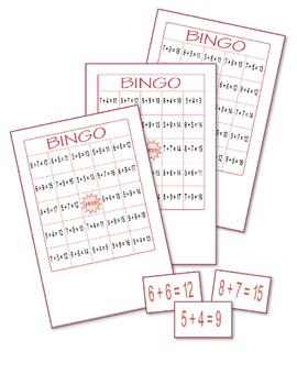 Addition Bingo 4