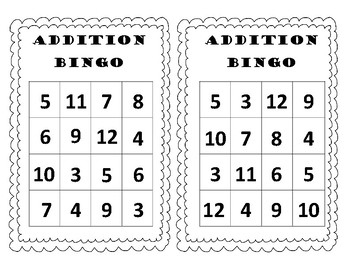Addition Bingo Bundle
