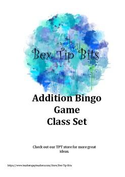 Addition Bingo Class Set Game