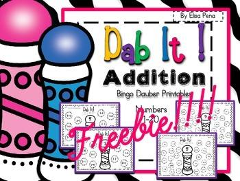 Addition Bingo Dauber Freebie