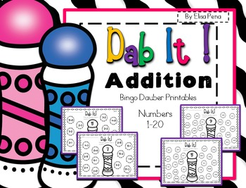 Addition Bingo Dauber Printables