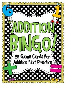 Addition Bingo FREEBIE