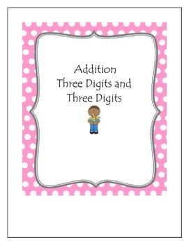 Addition Bingo Three Digits and Three Digits
