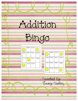Addition Bingo to 6