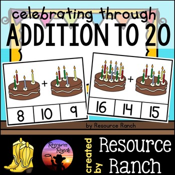 Addition Birthday Candles Clip Cards