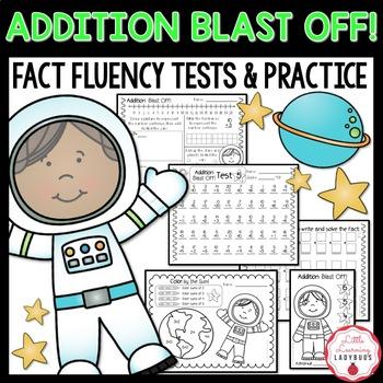 Addition Blast Off! {Timed Tests & Printables for Addition