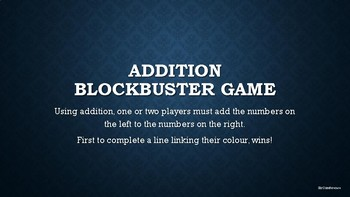 Addition Blockbuster Game suitable for Dyscalculia