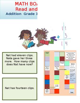 Addition Board Game Grade 1 Math and Grade 1 Reading
