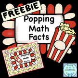 Addition Board Game: Popping Math Facts