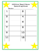 Addition Board Game (adding numbers 1-10)