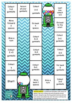 Addition Board Games
