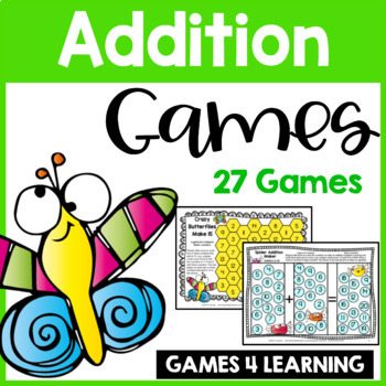 photo about Printable Math Board Games identified as Insect Buddies Addition Video games for Real truth Fluency