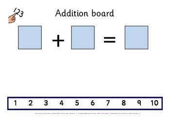 Addition Board & Number Tiles