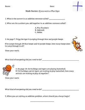 Addition Book Worksheet Activity