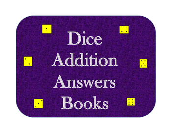 Addition Booklet for 2 Dice