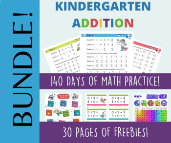 Page A Day Math ADDITION Series (addition facts 0-12)