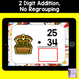 Addition Boom Cards | 2 Digit, No Regrouping Addition | Pi
