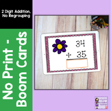 Addition Boom Cards for Distance Learning | 2 Digit, No Re