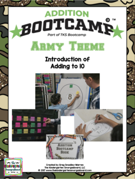 Addition Bootcamp: Adding To 10 Army Theme
