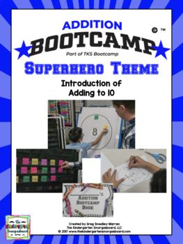 Addition Bootcamp:  Addition To 10 Superhero Theme