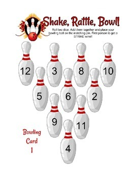Addition Bowling Center Activity