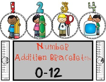 Addition Bracelets: Facts for #'s 0-12