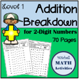 Addition Breakdown for 2-Digit Numbers - Level 1 - Basic