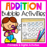 Addition Bubbles: Addition to 20 Worksheets for Addition Fact Fluency