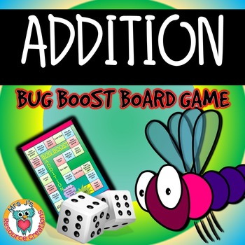 Addition Bug Boost Board Game - FREE!