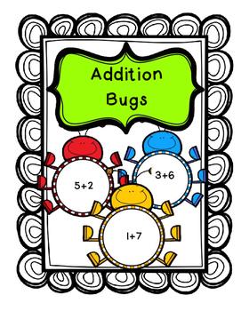 FREE Addition Bugs Basic Facts 0-15