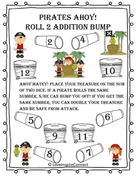 Addition Bump Game: Pirate Theme