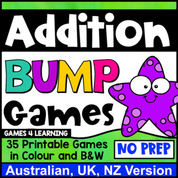 Addition Games 35 Addition Facts Bump Games [Australian UK