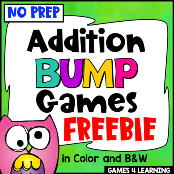 Addition Free: Addition Games No Prep Addition Bump Games