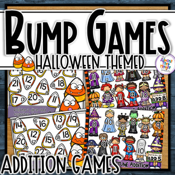 Addition Bump Games - Halloween themed