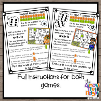 Thanksgiving Addition Bump Games - 22 Addition Game Boards