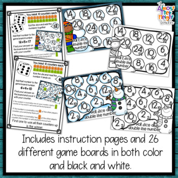 Addition Bump Games - Winter themed