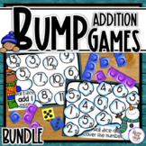 Addition Bump Games - 23 Winter themed Math Game Boards