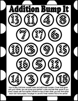 Addition Bump It Polka Dots